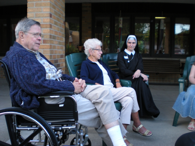 Sisters with the elderly