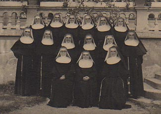 The first fifteen original Daughters of St. Francis of Assisi sent to America in 1946.